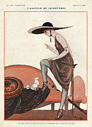Clothes Clothing Drawings - La Vie Parisienne 1922 1920s France by The Advertising Archives
