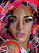 Rihanna Paintings - Rihanna by Bogdan Floridana Oana