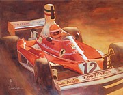 Ferrari Watercolor Posters - 312t Poster by Robert Hooper