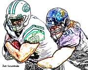New York Jets Digital Art Posters - 315 Poster by Jack Kurzenknabe