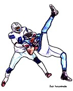 Dallas Cowboys Digital Art Metal Prints - 316 Metal Print by Jack Kurzenknabe