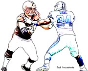 Football Pictures Prints - 318 Print by Jack Kurzenknabe