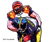 Steelers Digital Art Prints - 319 Print by Jack Kurzenknabe