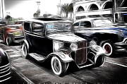 1935 Ford Coupe Posters - 32 Ford Sedan Poster by Steve McKinzie