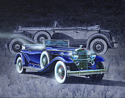 Antique Automobile Framed Prints - 32 Packard Framed Print by Richard De Wolfe