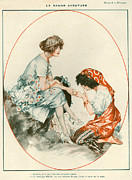 Gypsy Drawings Prints - 1920s France La Vie Parisienne Magazine Print by The Advertising Archives