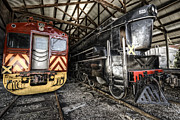 Steel Wheels Framed Prints - 321 And 523 Framed Print by Wayne Sherriff