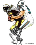 Sports Nfl Art Sketch Drawings Nfl Art Nfl Artwork Nfl Drawings Nfl Sketches Seattle Seahawksseattle Seahawks Russell Wilson Posters - 328 Poster by Jack Kurzenknabe