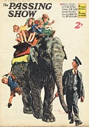 Elephants Drawings - 1930s,uk,the Passing Show,magazine Cover by The Advertising Archives