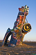 Cadillac Ranch Photos - Cadillac Ranch Amarillo Texas by John Hanou