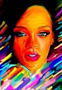 Lavers Framed Prints - Rihanna Framed Print by Bogdan Floridana Oana