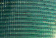 Glass Photo Originals - 333 W Wacker Building Chicago by Steve Gadomski