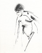 Life Drawing Drawings Posters - RCNpaintings.com Poster by Chris N Rohrbach