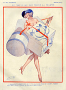 Sales Metal Prints - 1920s France La Vie Parisienne Magazine Metal Print by The Advertising Archives