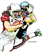 Sports Nfl Art Sketch Drawings Nfl Art Nfl Artwork Nfl Drawings Nfl Sketches Seattle Seahawksseattle Seahawks Russell Wilson Posters - 338 Poster by Jack Kurzenknabe