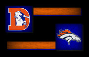 Broncos Photo Framed Prints - Denver Broncos Framed Print by Joe Hamilton