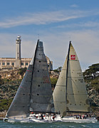 Alcatraz Prints - San Francisco Sailing Print by Steven Lapkin