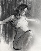 Charcoal Drawings Metal Prints - RCNpaintings.com Metal Print by Chris N Rohrbach