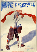 Scarves Posters - 1920s France La Vie Parisienne Magazine Poster by The Advertising Archives