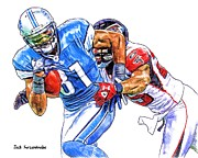 Sports Nfl Art Sketch Drawings Nfl Art Nfl Artwork Nfl Drawings Nfl Sketches Seattle Seahawksseattle Seahawks Russell Wilson Framed Prints - 341 Framed Print by Jack Kurzenknabe
