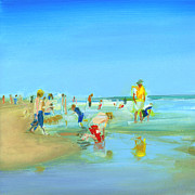 York Beach Painting Metal Prints - RCNpaintings.com Metal Print by Chris N Rohrbach