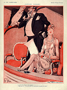 Fournier Framed Prints - 1920s France La Vie Parisienne Magazine Framed Print by The Advertising Archives