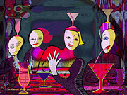 Schoendorf Digital Art - 349 - Crazy Cocktail Bar   by Irmgard Schoendorf Welch