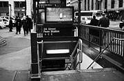 Manhatten Framed Prints - 34th Street Entrance To Penn Station Subway New York City Framed Print by Joe Fox