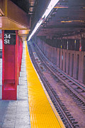Urban Theme Acrylic Prints - 34th Street Subway Station - New York City by Ben and Raisa Gertsberg