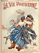 Prostitutes Posters - 1920s France La Vie Parisienne Magazine Poster by The Advertising Archives