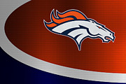 Broncos Photo Posters - Denver Broncos Poster by Joe Hamilton