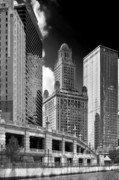 E Black Framed Prints - 35 East Wacker Chicago - Jewelers Building Framed Print by Christine Till