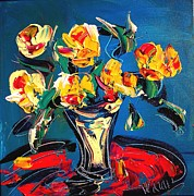 Women Soccer Paintings - Roses by Mark Kazav