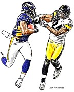 Sports Nfl Art Sketch Drawings Nfl Art Nfl Artwork Nfl Drawings Nfl Sketches Seattle Seahawksseattle Seahawks Russell Wilson Posters - 357 Poster by Jack Kurzenknabe