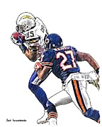 Sports Nfl Art Sketch Drawings Nfl Art Nfl Artwork Nfl Drawings Nfl Sketches Seattle Seahawksseattle Seahawks Russell Wilson Posters - 358 Poster by Jack Kurzenknabe
