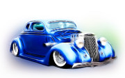 White Walls Framed Prints - 36 Ford Art Framed Print by Steve McKinzie