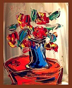 Outdoor Still Life Paintings - Roses by Mark Kazav
