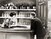 Silent Film Still: Drinking Print by Granger