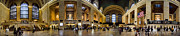 Rushing Posters - 360 Panorama of Grand Central Station Poster by David Smith