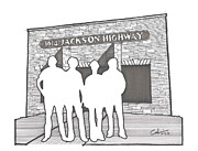 Icons Drawings Originals - 3614 Jackson Highway by Calvin Durham