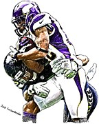 Sports Nfl Art Sketch Drawings Nfl Art Nfl Artwork Nfl Drawings Nfl Sketches Seattle Seahawksseattle Seahawks Russell Wilson Posters - 362 Poster by Jack Kurzenknabe