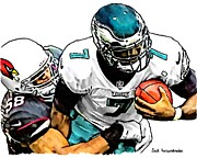 Michael Vick Framed Prints - 365 Framed Print by Jack Kurzenknabe