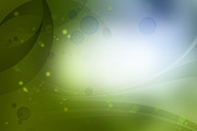 Green Photos - Abstract background by Les Cunliffe