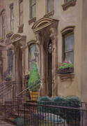 Franklin Roosevelt Paintings - 36th Street NY residence of FDR by Walter Mosley