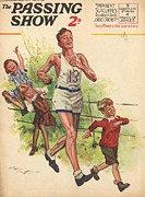 Athlete Drawings Prints - 1930s,uk,the Passing Show,magazine Cover Print by The Advertising Archives