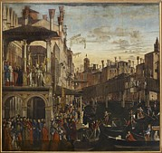 Punting Framed Prints - Italy, Veneto, Venice, Accademia Art Framed Print by Everett