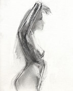 Life Drawings Framed Prints - RCNpaintings.com Framed Print by Chris N Rohrbach