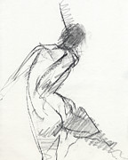 Dancer Drawings Framed Prints - RCNpaintings.com Framed Print by Chris N Rohrbach