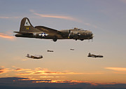 Flying Fortress Framed Prints - 379th Homeward Bound Framed Print by Pat Speirs