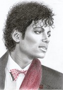 King Of Pop Drawings Prints - Michael Jackson Print by Eliza Lo